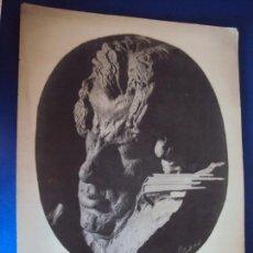 Documentos antiguos: (FOT-190600)FOTOGRAFIA ESTATUA VIOLINISTA FRANCISCO COSTA POR RAMON LLISAS DEDICADA A GASPAR CASSADO. Lote 168920632
