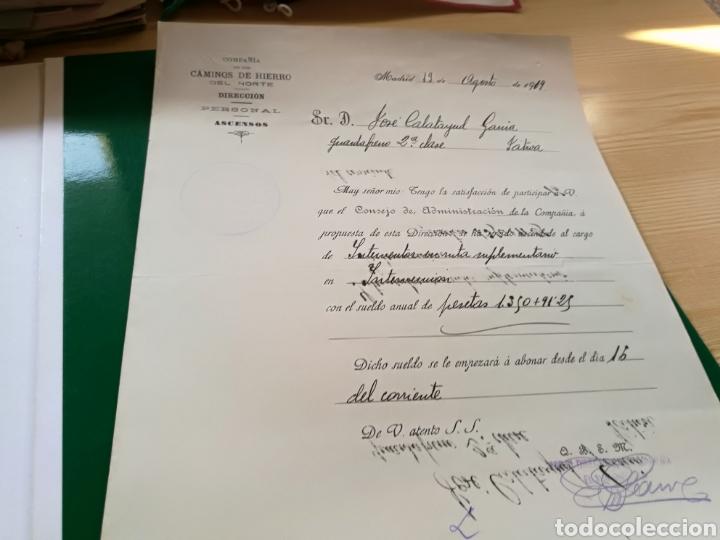 DOCUMENTO COMPAÑÍA NACIONAL CAMINOS DE HIERRO. 1919 (Coleccionismo - Documentos - Otros documentos)