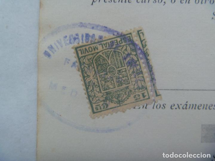 Documentos antiguos: UNIVERSIDAD SEVILLA - FACULTAD DE MEDICINA : MATRICULA PATOLOGIA QUIRURGICA 1º CURSO. 1931. VIÑETA - Foto 2 - 169094948