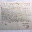 Documentos antiguos: DOCUMENTO. VILLA DE UTIEL (VALENCIA) CONCESIÓN DE DERECHOS PARA PODER RECOGER LEÑA (A.1800). Lote 169142177