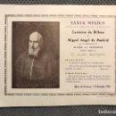 Documentos antiguos: ALFARA DEL PATRIARCA (VALENCIA) DIPTICO. PREDICACIÓN DE LA SANTA MISIÓN POR LPP CAPUCHINOS (A.1956). Lote 169142226