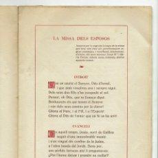 Documentos antiguos: LA MISSA DEL ESPOSOS, POR LUÍS VALERI. 1950. (MENORCA.3.4). Lote 169310488