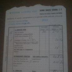 Documentos antiguos: FABRICA DE AZUCAR SANTA VICTORIA,NOMINA AÑO 1956. Lote 169316312