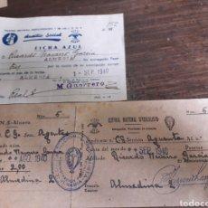 Documentos antiguos: C. N. S Y FICHA AZUL ALMERÍA. Lote 169421508