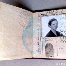 Documentos antiguos: PASAPORTE REPUBLICA ARGENTINA (COMPL.31 PAG.) EXP.1953,MUCHOS VISADOS,VIÑETAS CONSULARES-DESCRIPCIÓN. Lote 160771582