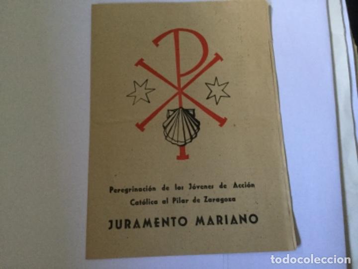 JURAMENTO MARIANO (Coleccionismo - Documentos - Otros documentos)