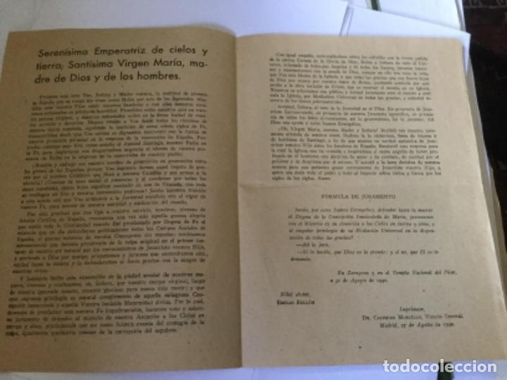 Documentos antiguos: JURAMENTO MARIANO - Foto 2 - 169757364