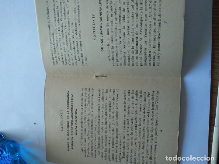 Documentos antiguos: REGLAMENTO DE LA ACCIÓN CATOLICA DE P0ADRES DE FAMILIA DE TARRAGONA - GABRIEL GIBERT IMP. - Foto 4 - 169780500