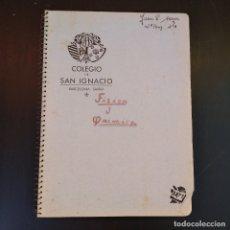 Documentos antiguos: ANTIGUA LIBRETA ESPIRAL - AÑOS 50 - COLEGIO SAN IGNACIO BARCELONA - SARRIA. Lote 102062508