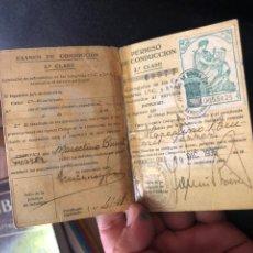 Documentos antiguos: PERMISO DE CONDUCIR ANTIGUO 1936. Lote 169981101