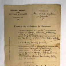 Documentos antiguos: VILLANUEVA DE LOS INFANTES (CIUDAD REAL) OBISPADO PRIORATO DE LAS ORDENES MILITARES.. Lote 169982281