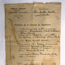 Documentos antiguos: VILLANUEVA DE LOS INFANTES (CIUDAD REAL) OBISPADO PRIORATO DE LAS ORDENES MILITARES.. Lote 169982352