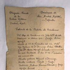 Documentos antiguos: VILLANUEVA DE LOS INFANTES (CIUDAD REAL) OBISPADO PRIORATO DE LAS ORDENES MILITARES.. Lote 169982528