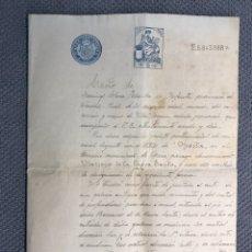 Documentos antiguos: CUENCA. TÍTULOS DE COMPRA DE UNAS MINAS DE LIGNITO CARBÓN. EN EL BARRANCO DE LA CUEVA SANTA (A.1921). Lote 169996249