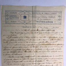 Documentos antiguos: INFANTES (CIUDAD REAL) CARTAS COMERCIALES SOBRE LA VIABILIDAD DE REABRIR LAS MINAS ..(A.1928). Lote 170000746