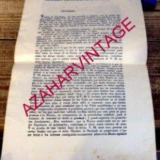 Documentos antiguos: BILBAO, 1835, CARTA DE VICENTE DE SARACHAGA A LOS PROCURADORES DEL REINO, TEMA VALES REALES. Lote 170008364
