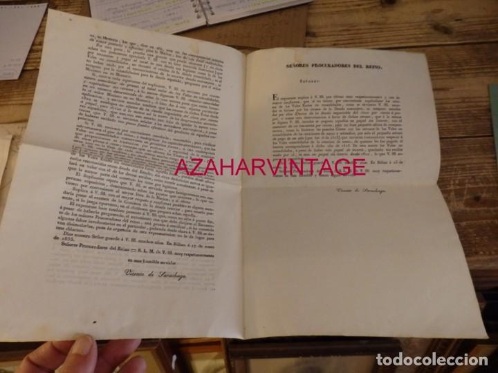 Documentos antiguos: BILBAO, 1835, CARTA DE VICENTE DE SARACHAGA A LOS PROCURADORES DEL REINO, TEMA VALES REALES - Foto 2 - 170008364