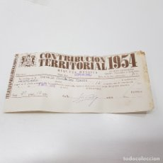 Documentos antiguos: CONTRIBUCIÓN TERRITORIAL 1954. RIQUEZA RÚSTICA. LOGROÑO. TDKP14. Lote 170026744