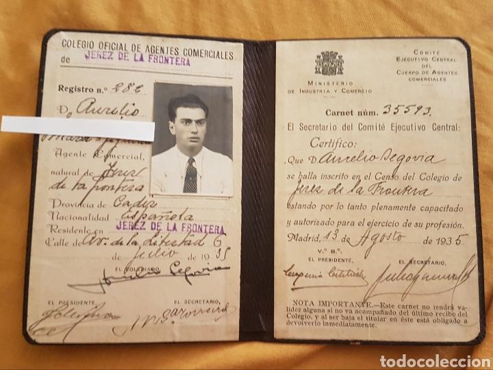 Documentos antiguos: Carnet de identidad republica española - Foto 2 - 170131749