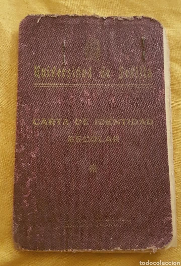 CARNET UNIVERSIDAD DE SEVILLA MEDICINA 1947 (Coleccionismo - Documentos - Otros documentos)