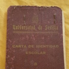 Documentos antiguos: CARNET UNIVERSIDAD DE SEVILLA MEDICINA 1947. Lote 170131913