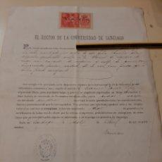 Documentos antiguos: 1900 RECTOR UNIVERSIDAD DE SANTIAGO DE COMPOSTELA NOMBRAMIENTO MAESTRO. Lote 170334237