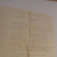 Documentos antiguos: ANTIGUA CARTA.MARIA TERESA TORRE CERVIGON.LA CORUÑA 1962. Lote 170566576