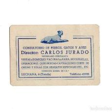 Documentos antiguos: MADRID.- CALLE LUCHANA 8. CONSULTORIO DE PERROS, GATOS Y AVES.. Lote 170696095