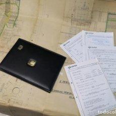 Documentos antiguos: 1 LOTE CEPSA COMPUESTO POR DOCUMENTOS VERIFICADOS, CARPETA Y MAPA 137X1 DE CALDERAS AÑO 60. Lote 170920255