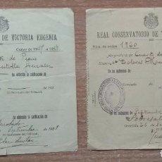 Documentos antiguos: DOCUMENTO CALIFICACIÓN REAL CONSERVATORIO VÍCTORIA EUGENIA GRANADA 1927-1928. Lote 170935680