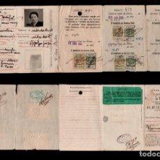 Documentos antiguos: 0383 CARNET PORTUGUES - BILHETE DE IDENTIDADE CON DISTINTOS SELLOS FISCALES. VER. Lote 170993469