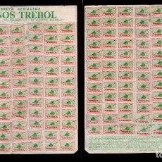 Documentos antiguos: L26-16 BONOS TREBOL CARNET LIBRETA REDUCIDA COMPLETO 192 CUPONES. Lote 170993854