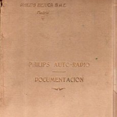 Documentos antiguos: PHILIPS IBERICA. 1935. DOCUMENTACION. PHILIPS AUTO- RADIO. . Lote 171007937