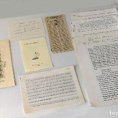 Documentos antiguos: DOCUMENTACIÓN RELACIONADA CON MANUEL ALCÁNTARA . Lote 171085168