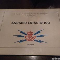 Documentos antiguos: ANUARIO ESTADÍSTICO SECRETARIA GENERAL DE COMUNICACIÓN 1985. Lote 171146023