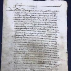Documentos antiguos: ESCRITURA DE ARRENDAMIENTO SEGOVIA. 1589.. Lote 171350218