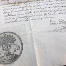Documentos antiguos: FIRMA ISIDRO DOLZ Y DOZ. DOCUMENTO REAL SOCIEDAD ARAGONESA AMIGOS DEL PAÍS.. Lote 171434225