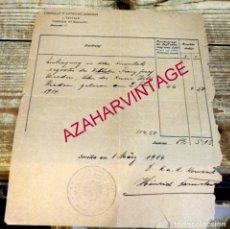 Documentos antiguos: DOCUMENTO DE 1914, MEMBRETE CONSULADO AUSTRO-HUNGARO DE SEVILLA, CORDOBA Y BADAJOZ, RARISIMO. Lote 171441593