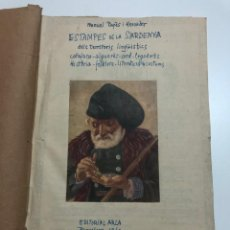Documentos antiguos: MANUEL PAGÈS I MERCADER. ESTAMPES DE LA SARDENYA. ORIGINAL MECANOGRAFIADO (MAQUETA).1960. Lote 171442424
