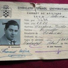Documents Anciens: SEU. VALENCIA. CARNET DE 1944 CON 2 CUPONES AL DORSO. Lote 171761442