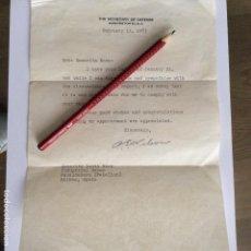 Documentos antiguos: CARTA CON LA FIRMA MANUSCRITA DEL SECRETARIO DE DEFENSA DE ESTADOS UNIDOS CHARLES ERWIN WILSON. Lote 171798620