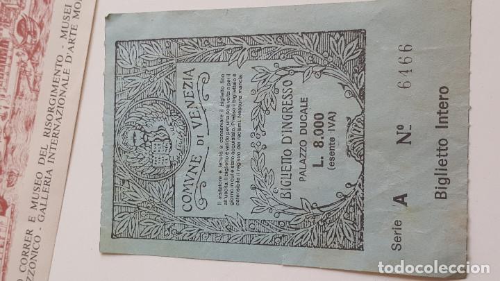 Documentos antiguos: DOS ANTIGUAS ENTRADAS A MUSEOS EN VENEZIA - Foto 4 - 171808728