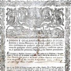 Documentos antiguos: CERTIFICADO CONFIRMANDO ESTAR LIBRE DE LA PESTE. TRAVESIA TORTOSA PALMA DE MALLORCA. ESPAÑA. 1816. Lote 172277803