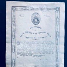 Documentos antiguos: CARTA DE COFRADE / REAL ARCHICOFRADIA CULTO CONTINUO A LA SANTISIMA VIRGEN / ZARAGOZA -MAGALLON 1866. Lote 172363890