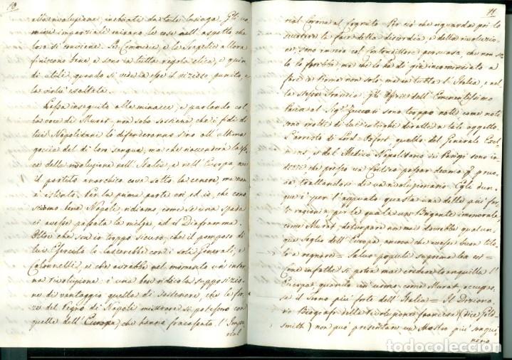 Documentos antiguos: CARTA 1815 - 32 PÁGINAS - HUÍDA DE NAPOLEÓN DE LA ISLA DE ELBA Y LA SITUACIÓN POLÍTICA DE 1815 - Foto 4 - 172715690