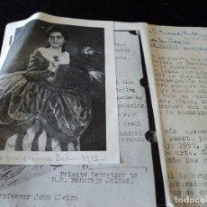 Documentos antiguos: INVITACION PARA EXPOSICION DE JOHN GLEICH,FOTOCOPIAS DE RETRATO Y FACTURA CRONICAS DE RADIO BADALONA. Lote 172743689