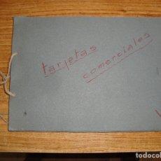 Documentos antiguos: (TC-212) ALBUM TARJETAS COMERCIALES AÑOS 60 VER TODAS LAS FOTOGRAFIAS. Lote 173112998