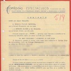 Documentos antiguos: CONTRATO. ANTONIO MACHÍN Y SU CONJUNTO. ACTUACIÓN EN SITGES, 1962. Lote 173139383