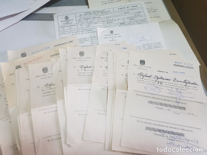 Documentos antiguos: Documentos Antigua Escuela Social lotazo - Foto 1 - 173194232