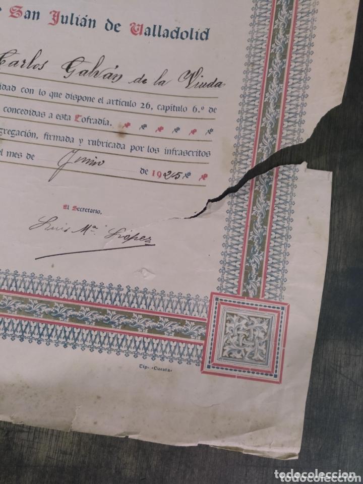Documentos antiguos: Cofradía de San Antonio de Padua. Real Iglesia Parroquial San Miguel y San Julián Valladolid. 1925. - Foto 2 - 173200448